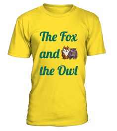 # The Fox and the Owl T Shirt .  A test design