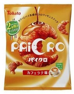 Tohato Paicro — Cafe Latte Flavor $2.00 http://thingsfromjapan.net/tohato-paicro-cafe-latte-flavor/ #Japanese cookies #Japanese snack #delicious Japanese snack
