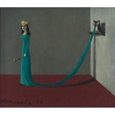 Artwork by Gertrude Abercrombie, Queen, Made of oil on masonite