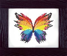 Colorful Butterfly Counted Cross Stitch Pattern                                                                                                                                                                                 More