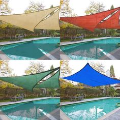 New Dark Red Square Sun Shade Sail Uv Blocking Canopy Cover Garden Pool Patio Outdoor Color Opt sold by YescomUSA