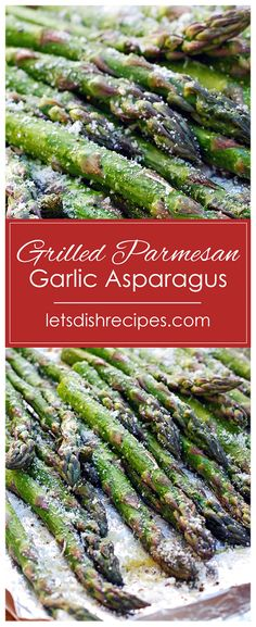 Parmesan Asparagus, How To Cook Asparagus, Fresh Asparagus, Asparagus Spears, Asparagus On The Grill, Cooked Asparagus, Best Asparagus Recipe, Asparagus Dishes, Parmesan Potatoes
