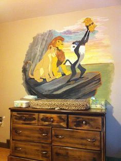 Lion king themed nursery
