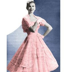 Vintage Crochet Pattern 1950s