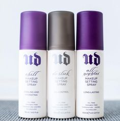 To keep your makeup looking flawless and sharp all day, use Urban Decay Setting Spray. | 17 Things Every Makeup Perfectionist Needs To Own
