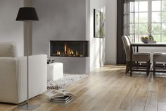 Bidore 95 - Beautiful two-sided contemporary gas fireplace available at: www.europeanhome.com