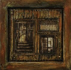 """Sheri Goldsmith, """"Ne Pas Entrer,"""" 2012. mixed media. Now on view in the St. Louis Artists' Guild's exhibition """"Photo Op"""""""