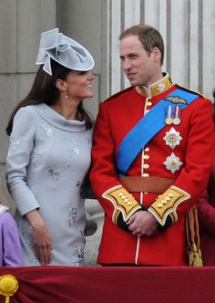 Not so sure about Kate's outfit, but she looks so blissfully happy