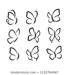 Simple Butterfly Tattoo, Butterfly Outline, White Butterfly, Easy Butterfly Drawing, Easy Tattoos To Draw, Small Tattoos, Easy Drawings, Tattoo Drawings, Easy Doodle Art