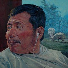 """""""Santi"""" by brian lemke Oil ~ 20 x 20"""