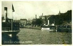 Christiania Kristiania Eidsvolds Plads og Piperviksbryggen utg Mittet tidlig 1900-tall