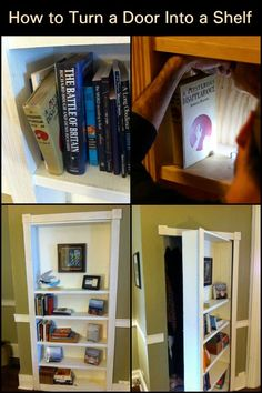 Create Extra Storage in Your Home by Turning a Door Into a Set of Shelves