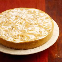 No-Bake Pumpkin Swirl Cheesecake - Instead of traditional pumpkin pie, try this pretty dessert for your holiday dinner. A narrow, thin-bladed spatula or a table knife works best for swirling the layers. Fall Desserts, No Bake Desserts, Just Desserts, Dessert Recipes, Healthy Desserts, Light Desserts, Healthy Recipes, Pumpkin Swirl Cheesecake, Baked Cheesecake Recipe
