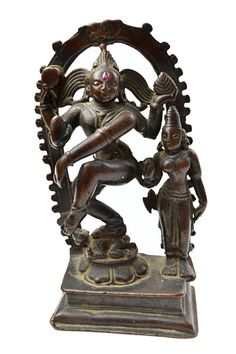 A bronze figure of Siva Nataraja, Southern India, probably century, standing dancing on Apas Shiva Statue, Nataraja, Tibetan Art, Antique Interior, Lord Shiva, Bronze Sculpture, Indian Art, 18th Century, Magic