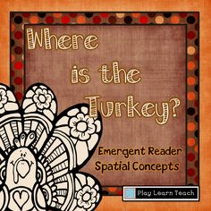 Free 8 page emergent reader - Where is the Turkey?