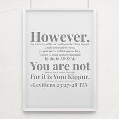 Leviticus 23:27-28 TLV Leviticus 23, Bible Society, Yom Kippur, Inspirational Verses, Letter Board, Bible Verses, Life, Scripture Verses, Bible Scripture Quotes