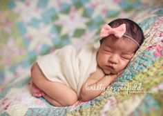 bow headband felt bow baby girl headband newborn prop by KNOTSLLC