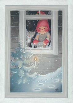 Secret Christmas Card RR from Christmas World, Old Fashioned Christmas, Christmas Art, Winter Christmas, Vintage Christmas, Creation Photo, Happy Birthday Jesus, Christmas Clipart, Christmas Illustration