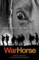 War Horse by Michael Morpurgo - In 1914, Joey, a beautiful bay-red foal, is sold to the army and thrust into the midst of the war on the Western Front. With his officer, he charges toward the enemy, witnessing the horror of the battles in France. But even in the desolation of the trenches, Joey's courage touches the soldiers around him. But his heart aches for Albert, the farmer's son he left behind. Will he ever see his true master again?