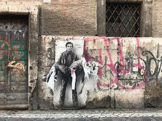 Mur de Rome, Pasolini dans une oeuvre d'Ernest Pignon-Ernest