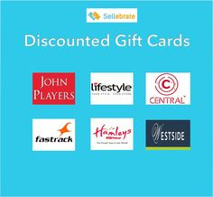 It's Monday, but that's acceptable ! Get discounted #GiftCards of #JohnPlayers, #Lifestyle and much more only on #SELLEBRATE.