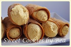 Cannolis (al horno) Cannoli, Queso Fresco, Sweet Cookies, Relleno, Sweet Potato, Vegetables, Food, Cream Cheeses, Desserts