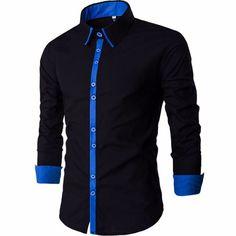 Men Shirt 2016 tinh khiết đơn giản áo sơ mi hiệu Men Business Casual vuông dài tay cổ áo thời trang nam giới ăn mặc áo sơ mi nam Quần áo XXL-trong Áo sơ mi giản dị từ Quần áo & Phụ kiện nam trên Aliexpress.com | Alibaba Group