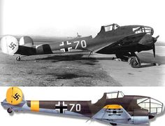 """This Potez 63.11 (W.Nr. 1144) coded """"BC+KI"""" was captured in November 1942. It was photographed here at Pau in 1944"""