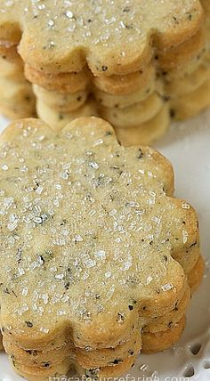 London Fog Vanilla Bean Shortbread Cookies ❊