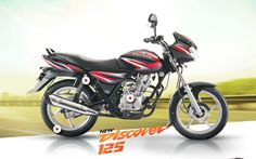 Book a bajaj #discover which is a 125 CC bikes in #India with top speed 100 kmph.http://goo.gl/u4FF62
