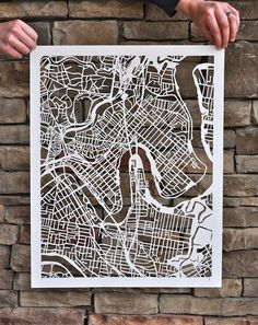 beautiful cutout street map! so cool!
