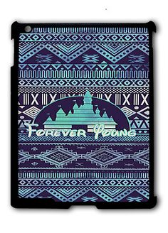 Forever Young Disney Aztec Pattern iPad case, Available for iPad 2, iPad 3, iPad 4 , iPad mini and iPad Air