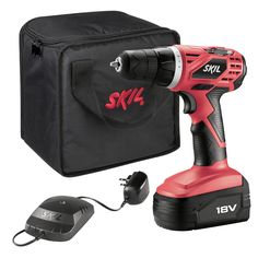 """Drill Driver Variable speed trigger lets you control drilling speed 3/8"""" keyless chuck for fast and easy bit changes On-tool bit storage keeps bits handy Soft-grip design for added comfort and control"""