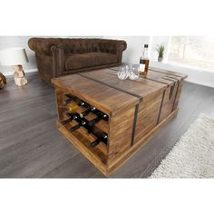 Moderne salontafel Bodega Sheesham - 30151