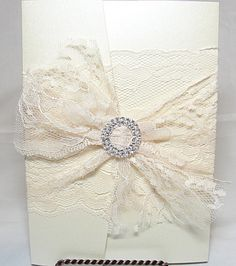 elegant fan invitations with crystals - Google Search