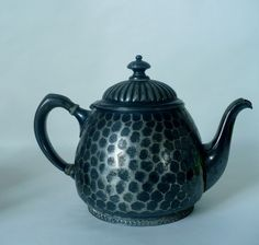 Charming vintage silver tea pot ~