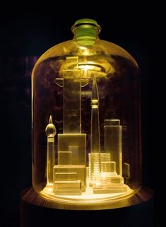 Artist Mike Kelley Recreates the Bottle City of Kandor Without Terrorizing the Galaxy Mike Kelley Artist, Contemporary Sculpture, Contemporary Art, Giuseppe Penone, Light Images, Glam Room, Painted Jars, Bottles And Jars, Light Art