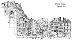 Gérard Michel Liège, place de l'Yser  avec Fifi, de la terrasse du Randaxhe...