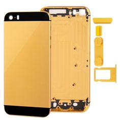 [USD14.50] [EUR13.50] [GBP10.43] Full Housing Alloy Replacement Back Cover with Mute Button + Power Button + Volume Button + Nano SIM Card Tray for iPhone 5S