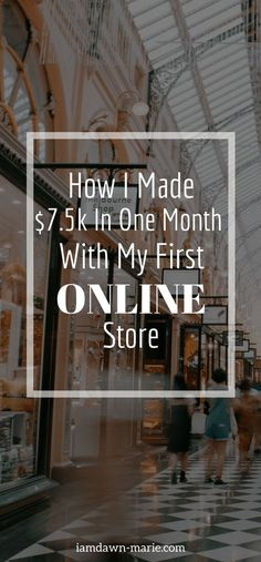 How I made $7.5k in my first online store and how you can make money with an online store if you want using Shopify