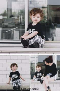 Lot801 baby and toddler pineapple jogger pants and leggings. Toddler / baby boy style. The cutest outfit ideas ever. Pineapple pants, graphic black tee and tennis shoes.