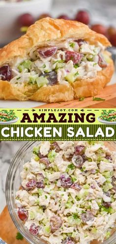 This contains: Chicken Salad, easy weeknight dinner, meal ideas