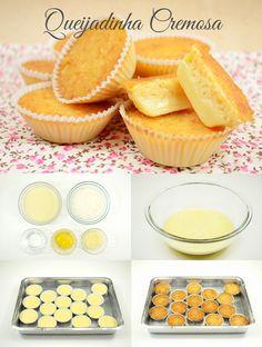 Ingredientes: – 1 xícara (chá) de coco em flocos desidratado – ¼ de xícara (chá) de água – 1 lata de leite condensado – 3 colheres (sopa) de queijo parmesão ralado – 2 gemas Modo de fazer: – Em uma vasilha coloque todos os ingredientes. – Mexa por 1 minuto. – Coloque forminhas de papel …