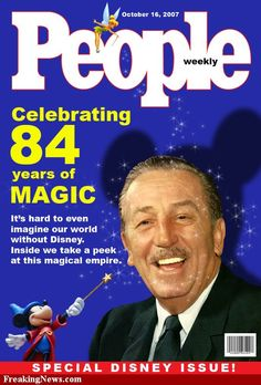 Disney in People Magazine - Oct 2007 - It's a Disney World Disney Tangled, Disney Love, Walt Disney Land, Art Linkletter, Disney Magazine, Toys R Us Kids, Disney Icons, Walter Elias Disney, Disney Fanatic