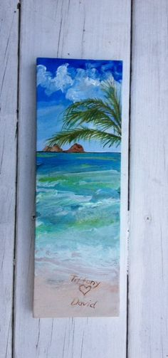 Custom Sand painting order  4x12 by ASliceofTheBeach on Etsy, $120.00