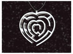 Heart maze pendant by Fairesure on Shapeways. Learn more before you buy, or discover other cool products in Pendants and Necklaces. Chocolate Shapes, Maze, Making Out, Pendants, Heart, Hang Tags, Labyrinths, Pendant, Charms