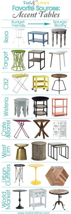 Teal & Lime's Favorite Sources: Accent Tables