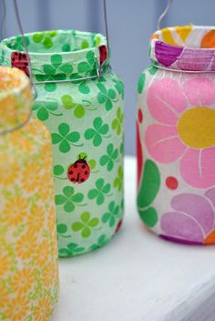 Paper mache jars