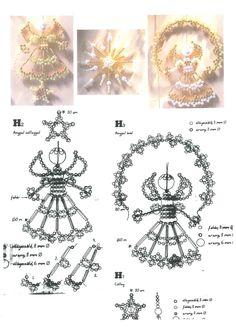 PERLA -GYÖNGY-GYÖNGYÉKSZEREK-MINTÁK-DÍSZEK! - Képgaléria - Karácsony Seed Bead Tutorials, Beading Tutorials, Beading Patterns, Cute Christmas Decorations, Beaded Christmas Ornaments, Christmas Crafts, Safety Pin Crafts, Beaded Angels, Beads Pictures