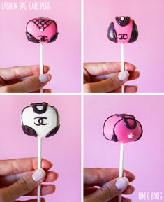 Fashion Chanel Handbag Cake Pops tutorial - So beautiful - just like my daughter!